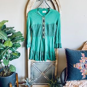 Free People Embroidered Tunic💋